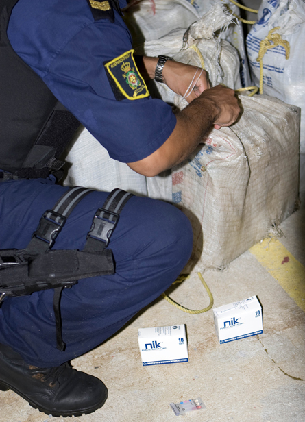 Kunstwacht onderschept drugstransport