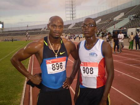 Asafa Powell en Lie-Marvin