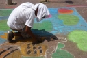Versgeperst.com Versgeperst talent Street Painting LIFESTYLE Curaçao colors of willemstad artistiek  streetpainting