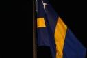 curaçaose vlag wordt gehesen