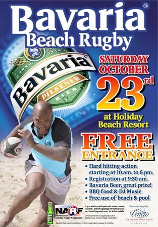 Curacao Sport - Bavaria Beach Rugby Poster