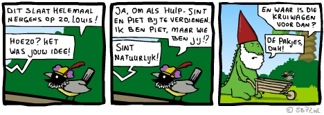 Louis' webcomic zonder Flash