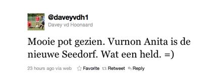 Tweet over Anita van Davey vd Hoonaard