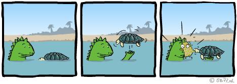 Louis' webcomic zonder Flash