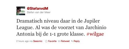 Tweet over Antonia van Stefan van der Meer
