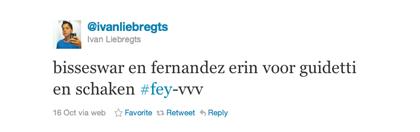 Tweet van Ivan Liebregts over Fernandez