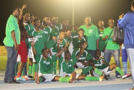 Victory Boys celebrating
