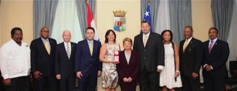 PWF Prinses Wilhelmina Fons met Ministerraad