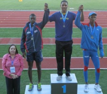 Terrence Agard podium
