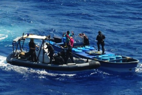 kustwacht drugsvangst op zee