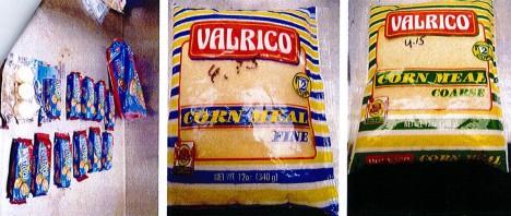 Cocaine in koekjes en maismeel
