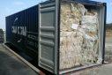 Plastic export met volle container met LDPE plastic