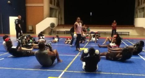 jemyma betray training sit-ups