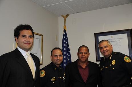 Sr. Carmelo de Stefano (WTC), Major Jose Perez, Sr. Humphrey Josefa i Sr. Manuel Orosa Hefe