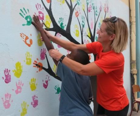 Bus Ser Oranje School boomschildering